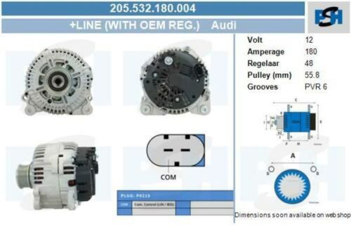Lichtmaschine / Generator NEU & PFANDFREI 180 AMPAUDI A6 AVANT (4F5, C6) 2.0 TDI