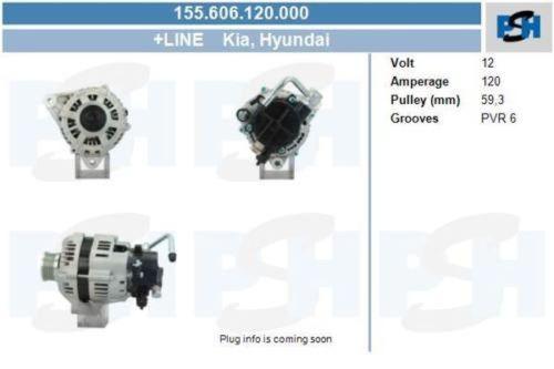Lichtmaschine / Generator NEU & PFANDFREI 120 AMPHYUNDAI TRAJET (FO) 2.0 CRDI