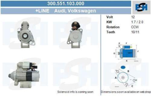 Anlasser / Starter Anlasser Starter für VW MULTIVAN TRANSPORTERVW MULTIVAN V (7HM, 7HN, 7HF, 7EF, 7EM, 7EN