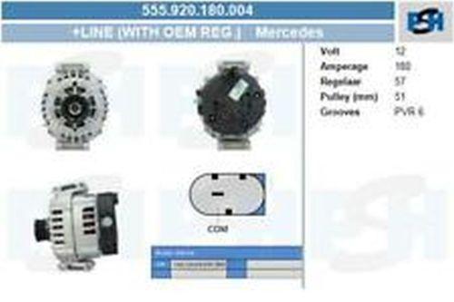 Lichtmaschine / Generator Lichtmaschine 555.902.180.004 mit Original Valeo ReglerMERCEDES-BENZ C KLASSE (W204) C 220 CDI