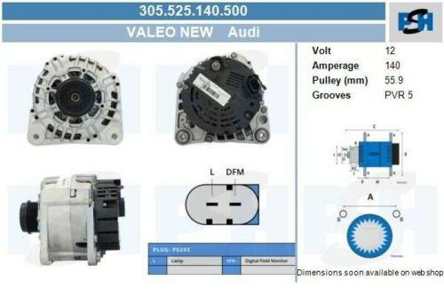 Lichtmaschine / Generator Valeo Generator 305.525.140.500VW LT 28-46 II PRITSCHE/FAHRGESTELL (2DX0FE