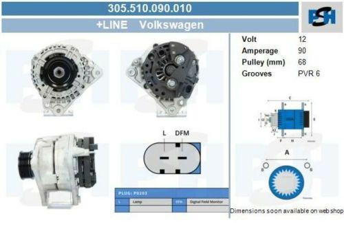 Lichtmaschine / Generator Lichtmaschine / Generator NEU & PFANDFREIVW LT 28-46 II PRITSCHE/FAHRGESTELL (2DX0FE