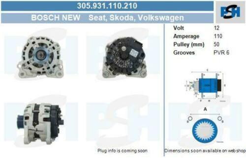 Lichtmaschine / Generator Bosch Lichtmaschine 305.931.110.210VW UP 1.0