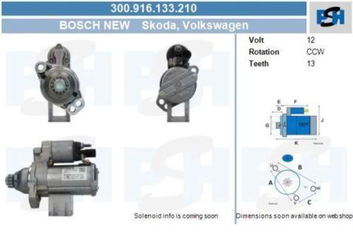 Anlasser / Starter Bosch Starter für Startanlage 300.916.133.210VW UP 1.0