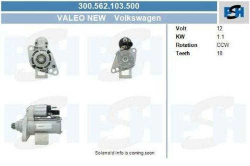 Anlasser / Starter BV PSH Starter Anlasser Startanlage 300.562.103.500VW TOURAN (1T3) 1.2 TSI