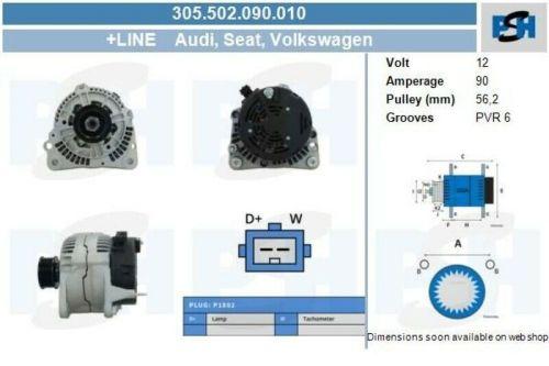Lichtmaschine / Generator Lichtmaschine Volkswagen 90AVW GOLF III (1H1) 1.9 TDI